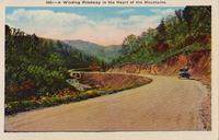 Winding Roadway in the Heart of the Mountains