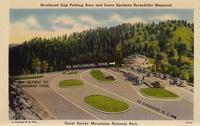 Newfound Gap Parking Area and Laura Spelman Rockefeller Memorial, Great Smoky Mountains National Park.