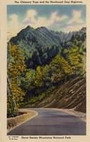 Chimney Tops and the Newfound Gap Highway, Great Smoky Mountains National Park.