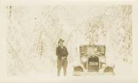 John W. Oliver Delivering Mail in Snow