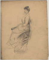 Pencil figure drawing of a woman