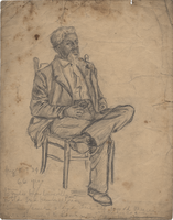 Pencil figure drawing of a man
