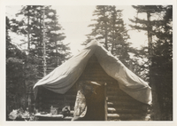 First Log Cabin on top of Mt. LeConete. Winter of 1925-26