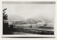 Area of western Gatlinburg 1925 from west side of West Fork of Little Pegion River