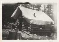 First Log Cabin built on Mt. Le Conte, winter of 1925-26