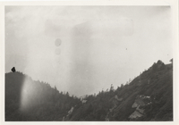 Mt. LeConte, Clifftop to right, West Peak to Left. Taken 1925