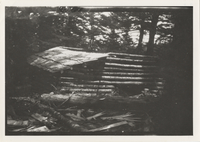 House That Jack Built' Basin Sp. Camp, during construction, looking down hill, Picture taken in early summer of 1926.