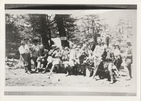 Thompson Photography employees at Basin Spring Camp, Mt. LeConte, picture taken in 1926 (summer)