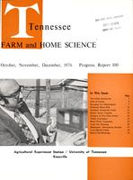 Tennessee farm and home science, progress report 100, October - December 1976