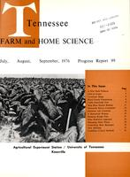 Tennessee farm and home science, progress report 99, July - September 1976