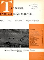 Tennessee farm and home science, progress report 98, April - June 1976