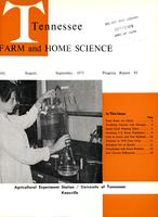 Tennessee farm and home science, progress report 95, July - September 1975
