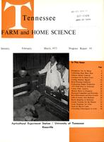 Tennessee farm and home science, progress report 93, January - March 1975