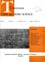 Tennessee farm and home science, progress report 92, October - December 1974
