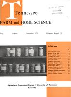 Tennessee farm and home science, progress report 91, July - September 1974