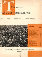Tennessee farm and home science, progress report 87, July - September 1973