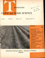 Tennessee farm and home science, progress report 85, January - March 1973