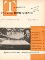 Tennessee farm and home science, progress report 84, October - December 1972