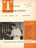 Tennessee farm and home science, progress report 83, July - September 1972