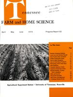Tennessee farm and home science, progress report 82, April - June 1972