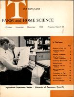 Tennessee farm and home science, progress report 56, October - December 1965