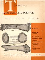Tennessee farm and home science, progress report 55, July - September 1965