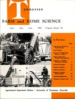 Tennessee farm and home science, progress report 54, April - June 1965