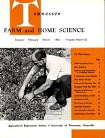 Tennessee farm and home science, progress report 53, January - March 1965