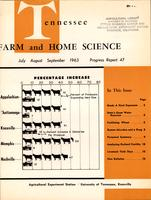 Tennessee farm and home science, progress report 47, July - September 1963