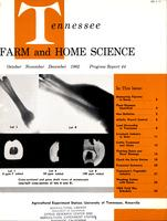 Tennessee farm and home science, progress report 44, October - December 1962