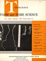Tennessee farm and home science, progress report 43, July - September 1962