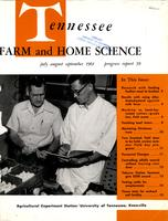 Tennessee farm and home science, progress report 39, July - September 1961