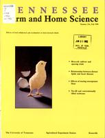 Tennessee farm and home science, progress report 156, October - December 1990