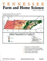 Tennessee farm and home science, progress report 153, January - March 1990