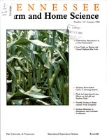 Tennessee farm and home science, progress report 147, July - September 1988