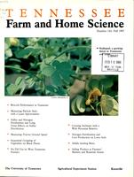 Tennessee farm and home science, progress report 144, October - December 1987