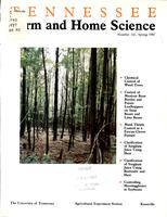 Tennessee farm and home science, progress report 142, April - June 1987