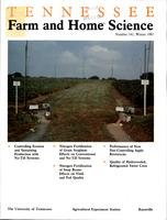 Tennessee farm and home science, progress report 141, January - March 1987
