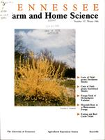 Tennessee farm and home science, progress report 137, January - March 1986