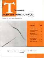 Tennessee farm and home science, progress report 135, July - September 1985