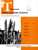 Tennessee farm and home science, progress report 133, January - March 1985