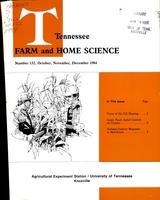 Tennessee farm and home science, progress report 132, October - December 1984