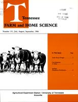 Tennessee farm and home science, progress report 131, July - September 1984