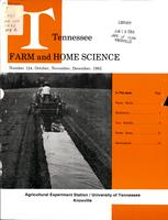 Tennessee farm and home science, progress report 124, October - December 1982