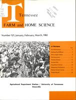 Tennessee farm and home science, progress report 121, January - March 1982