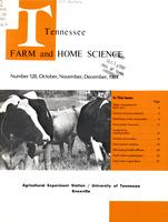 Tennessee farm and home science, progress report 120, October - December 1981