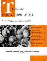 Tennessee farm and home science, progress report 119, July - September 1981
