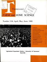 Tennessee farm and home science, progress report 118, April - June 1981