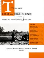 Tennessee farm and home science, progress report 117, January - March 1981