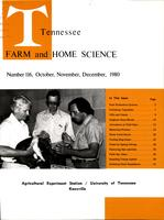 Tennessee farm and home science, progress report 116, October - December 1980